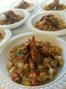teriyaki chicken and fried Rice for sale in kids canteens by Brooke